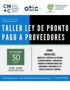 TALLER: LEY DE PRONTO PAGO A PROVEEDORES