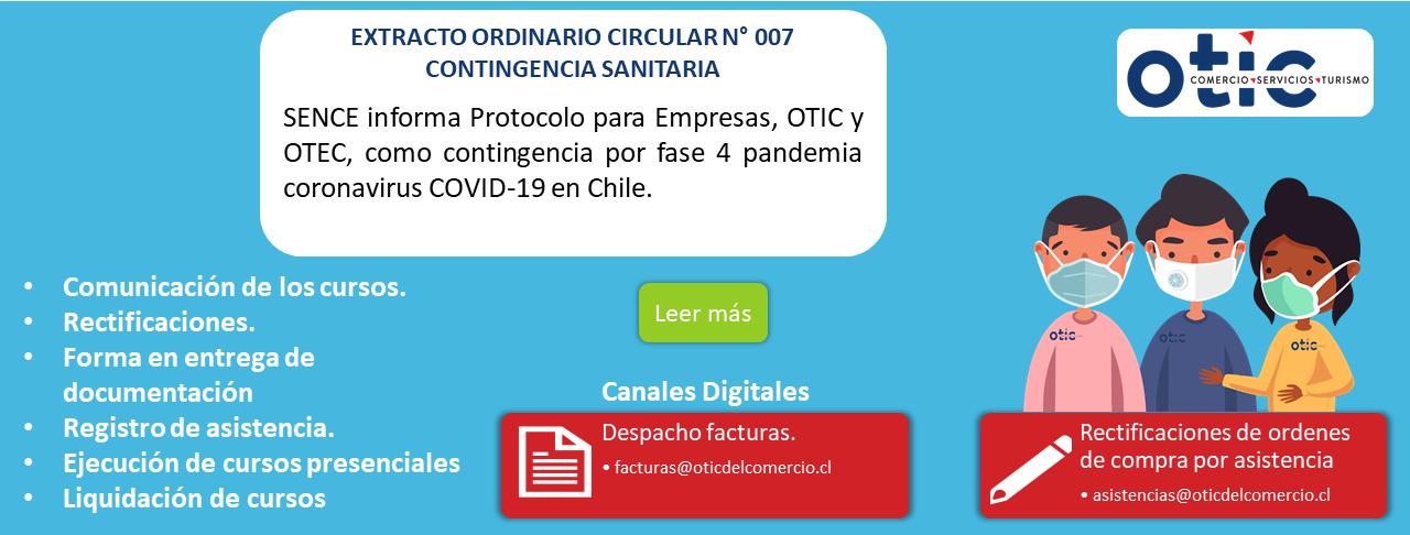 EXTRACTO ORDINARIO CIRCULAR Nº 007 CONTINGENCIA SANITARIA