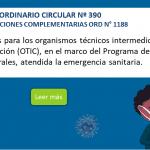 ORDINARIO CIRCULAR Nº 390 – INSTRUCCIONES COMPLEMENTARIAS ORD N° 1188