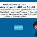 Resolución Exenta N° 1644 - Modificatoria del Instructivo 1250 bajo R.E. 1250.