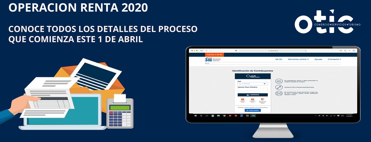 Operación Renta comienza el 1 de abril de 2021